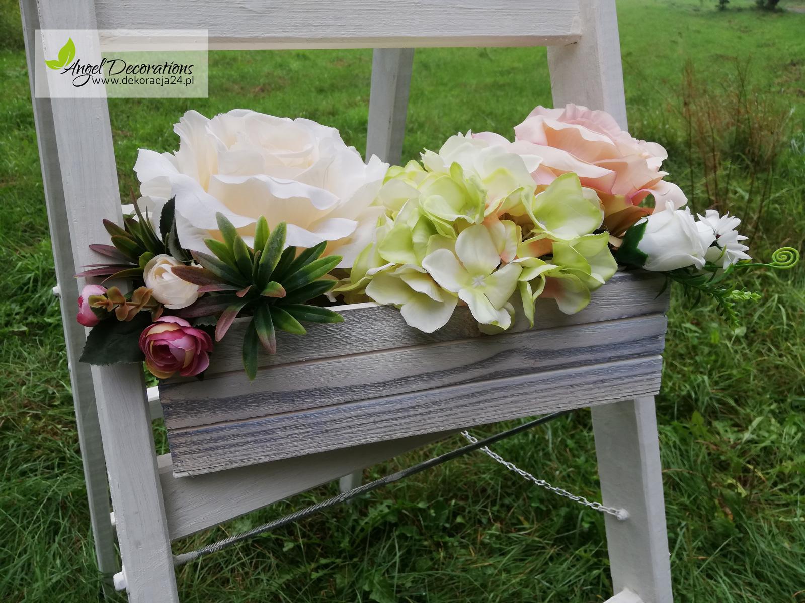 drabina kwiaty pojemnik