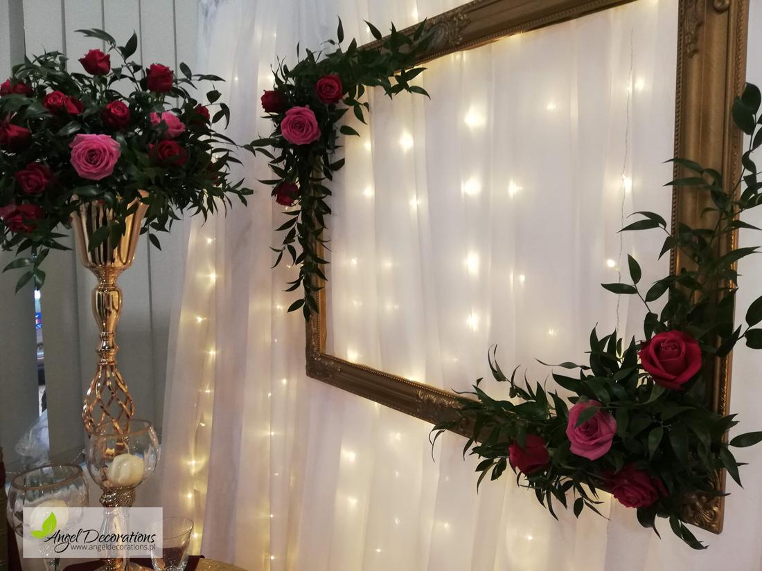 stolik-kiwaty-dekoracje-rama-Angeldecorations-krakow